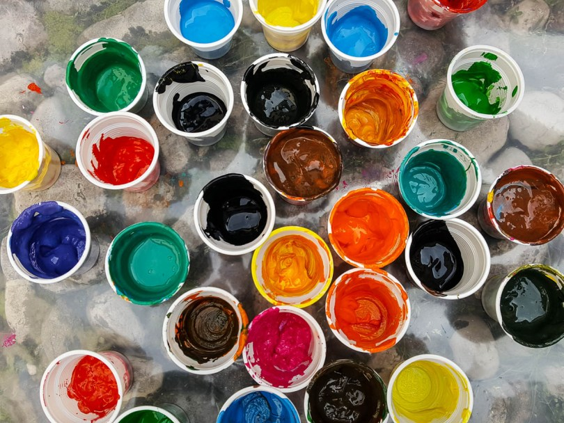Colourful paints - Palladio Museum, Vicenza, Veneto, Italy - www.rossiwrites.com
