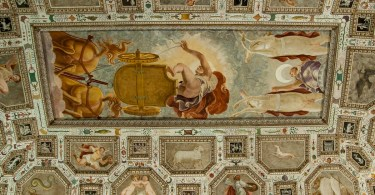 The frescoed ceiling of the Hall of the Firmament - Vicenza, Italy - www.rossiwrites.com