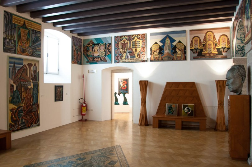 Inside the Futurist House of Art Fortunato Depero - Rovereto, Trentino, Italy - www.rossiwrites.com