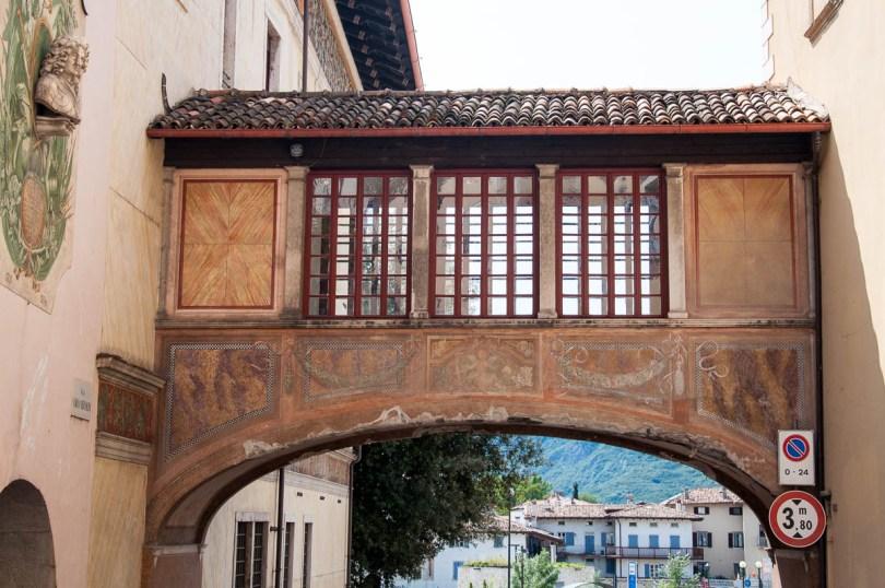 The frescoed hallway of Palazzo Pretorio, Piazza dei Podesta - Rovereto, Trentino, Italy - www.rossiwrites.com