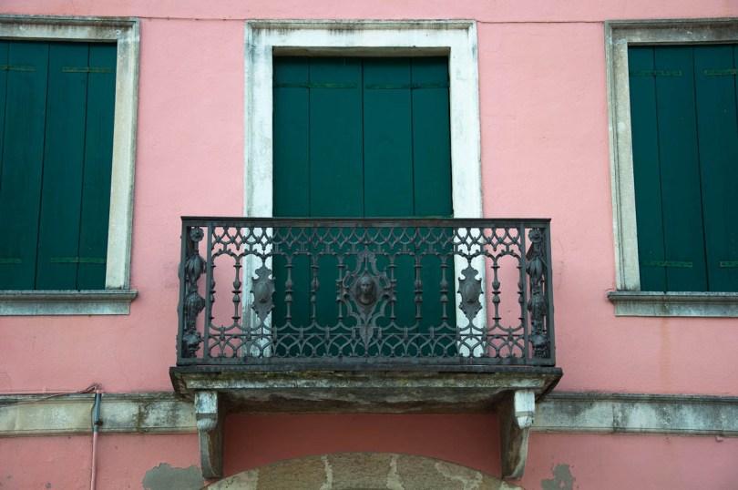 A wrought-iron balcony - Cologna Veneta, Italy - www.rossiwrites.com