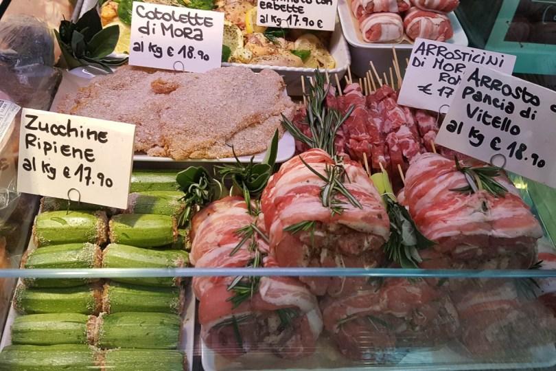 Fresh meat and deli counter, Mercato di Mezzo - Bologna, Emilia-Romagna, Italy - www.rossiwrites.com