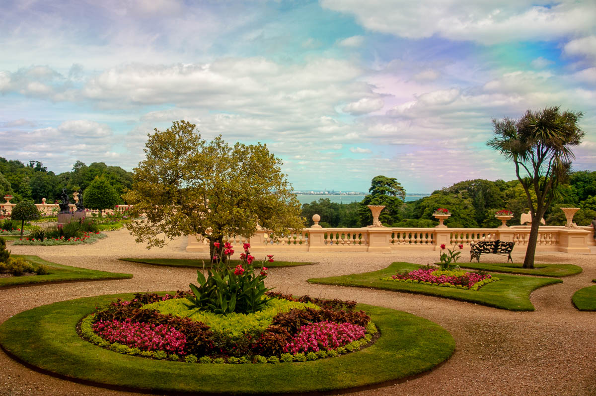 Rainbow Sky - A view of the garden - Osborne House, Cowes, Isle of ...