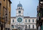 The astronomical clock on a grey day - Palazzo del Capitanio - Padua, Italy - www.rossiwrites.com