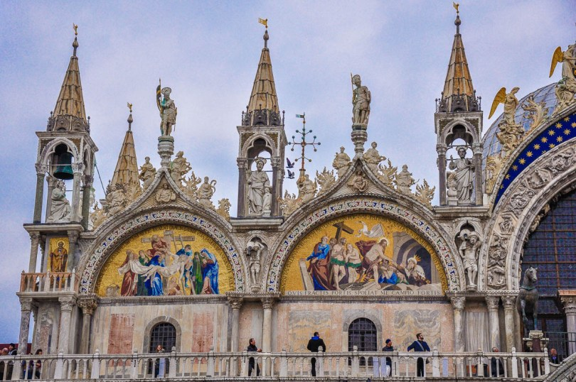 A close-up of St. Mark's Basilica - Venice, Veneto, Italy - www.rossiwrites.com