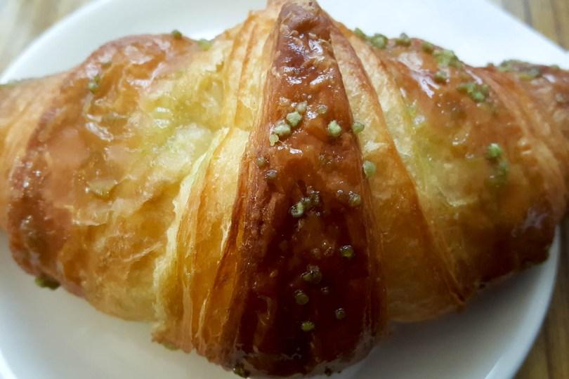 Brioche with pistachio spread - Vicenza, Italy - www.rossiwrites.com