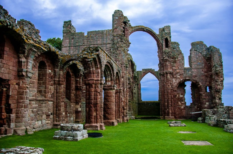 The ruins of Lindisfarne Priory - Holy Island of Lindisfarne, Northumberland, England - www.rossiwrites.com