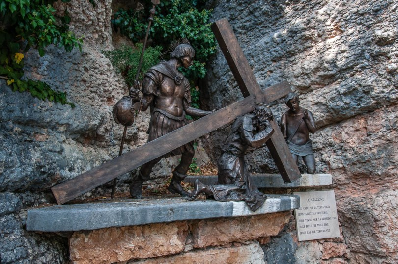 The ninth Station of the Cross - Sanctuary of Santa Maria della Corona, Spiazzi, Veneto, Italy - www.rossiwrites.com