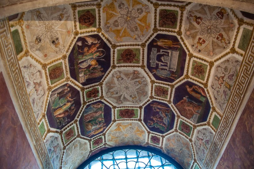 A beautiful frescoed ceiling - Cornaro Loggia and Odeon - Padua, Veneto, Italy - www.rossiwrites.com