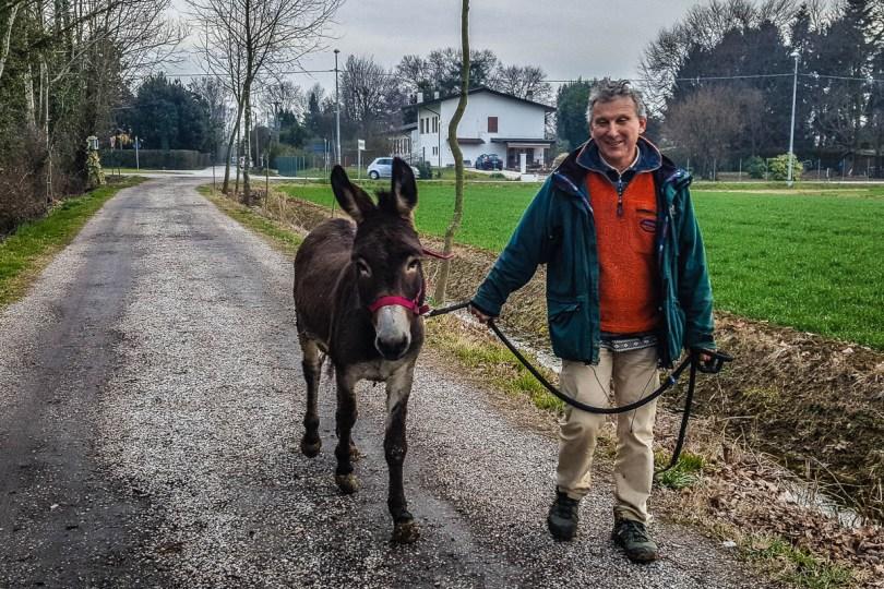 Indi the Donkey - Capodanno Veneto - Fattoria Il Rosmarino, Marcon, Veneto, Italy - www.rossiwrites.com