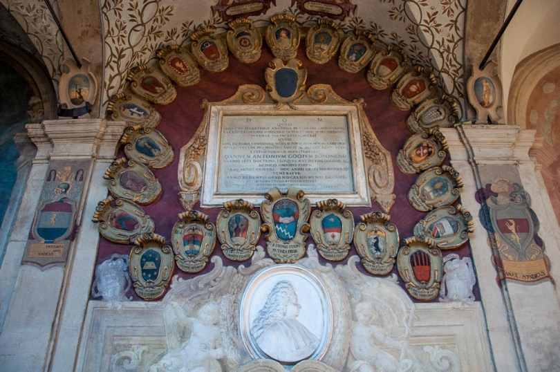 Inside the Archiginnasio - Bologna, Emilia-Romagna, Italy - www.rossiwrites.com