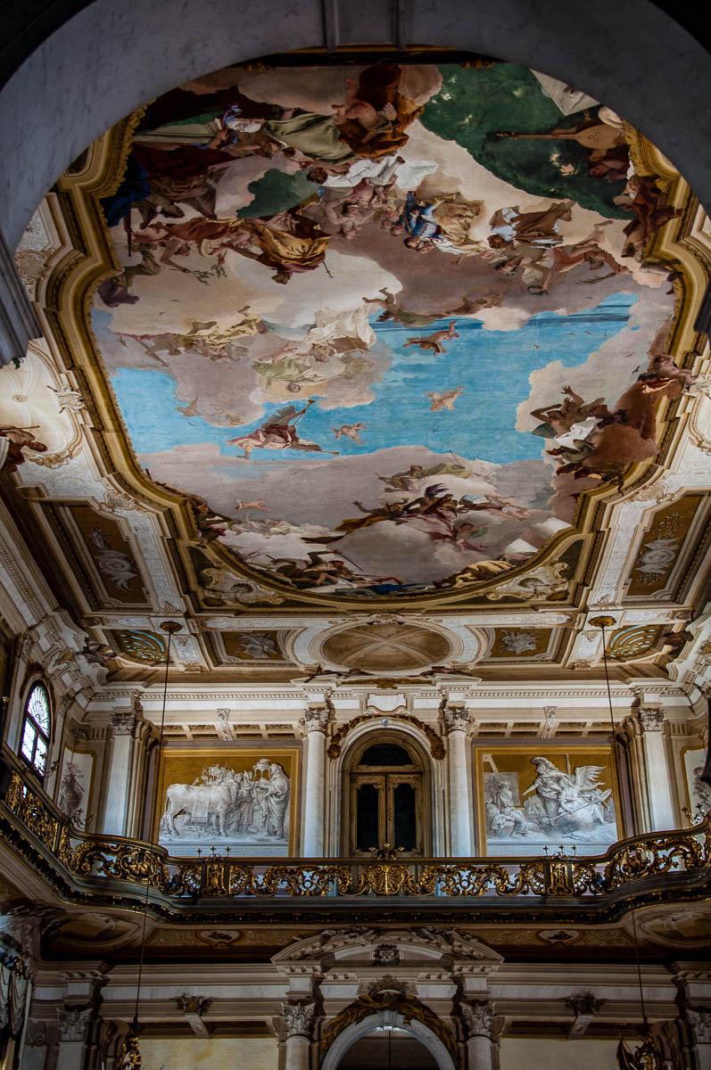The ballroom with Giambattista Tiepolo's fresco - Villa Pisani, Stra, Veneto, Italy - www.rossiwrites.com