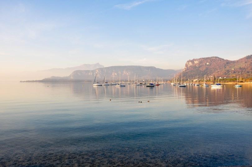 A view from Bardolino's promenade - Lake Garda, Italy
