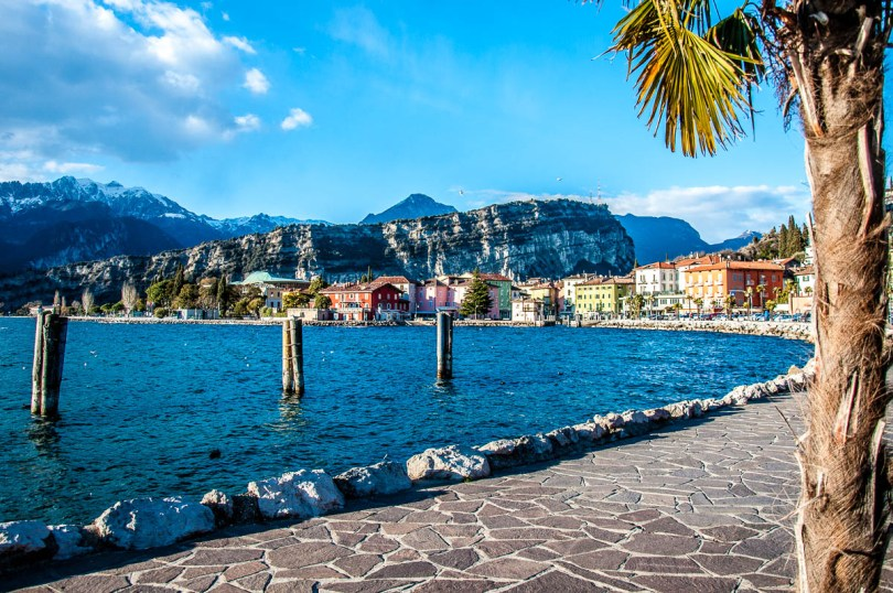 The promenade with Torbole in the background - Lake Garda, Italy - www.rossiwrites.com