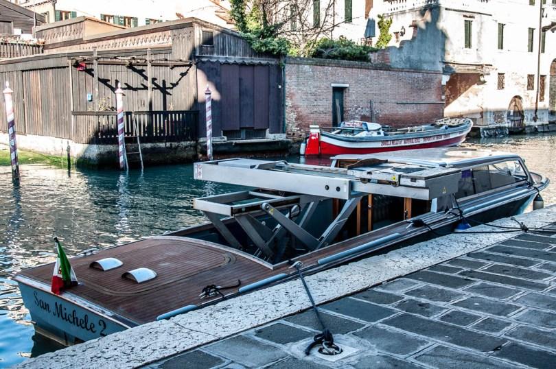 Hearse boat - Venice, Veneto, Italy - www.rossiwrites.com