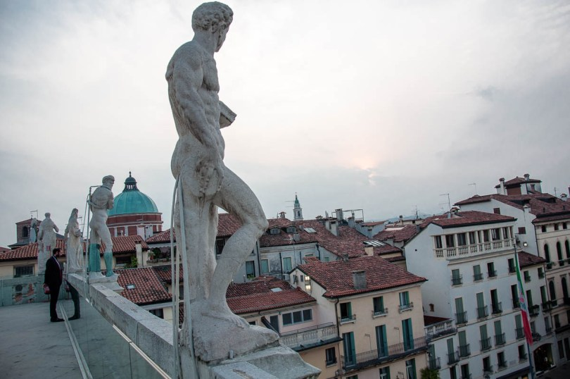 Looking over the rooftops of Vicenza from the Terrace of Palladio's Basilica, Vicenza , Italy - www.rossiwrites.com