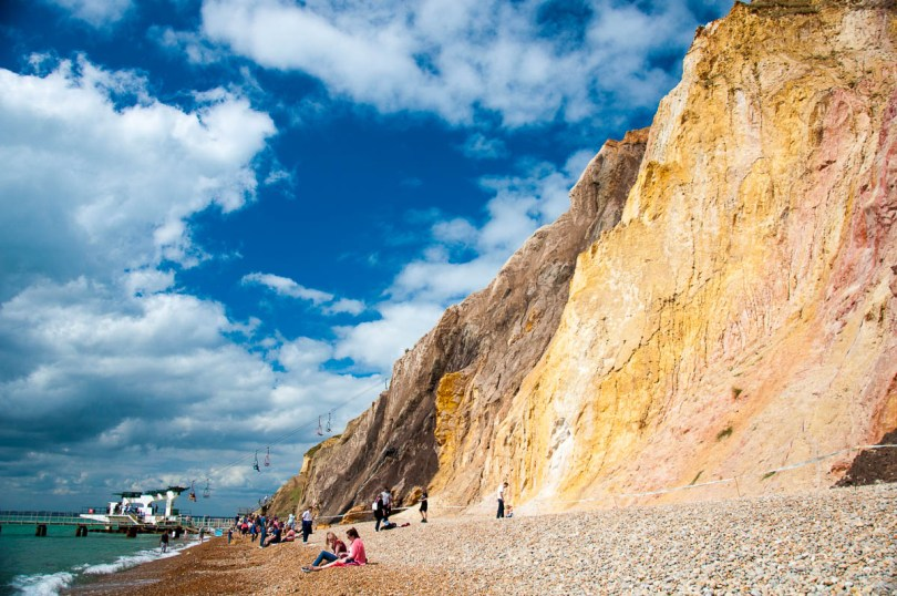 The colourful sands of Allum Bay, Isle of Wight, England - www.rossiwrites.com