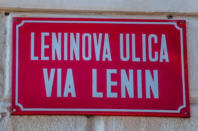 Lenin Street sign - Piran, Slovenia - www.rossiwrites.com