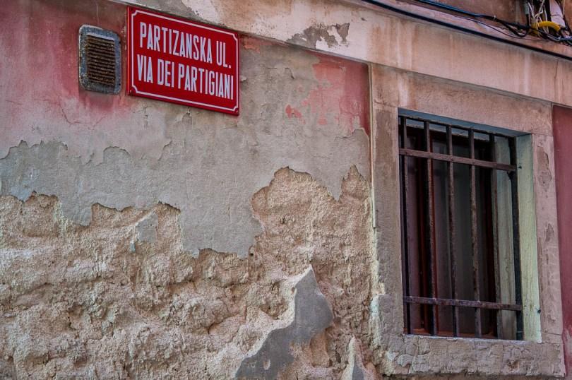 Partisan Street Sign - Piran, Slovenia - www.rossiwrites.com
