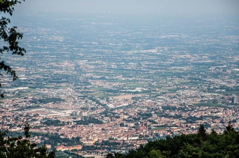 Bassano del Grappa seen from the Cava Abitata - The Painted Caves - Rubbio, Veneto, Italy - www.rossiwrites.com