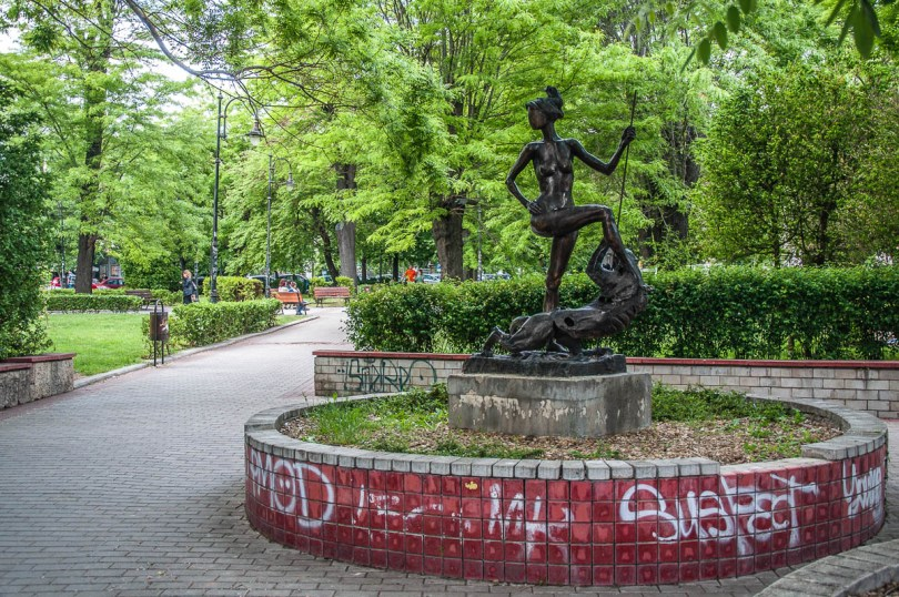 Statue in a small park - Varna, Bulgaria - www.rossiwrites.com