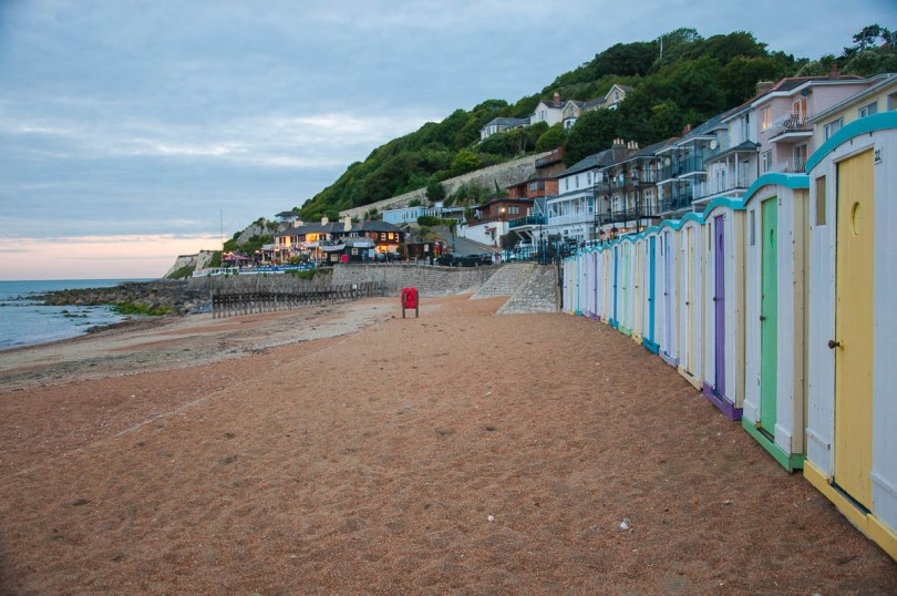 Colourful beach huts - Ventnor, Isle of Wight, England - www.rossiwrites.com