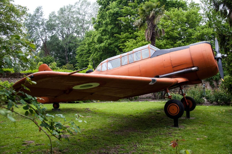 Plane in the garden, Museum of Flight - Castello di San Pelagio, Province of Padua, Veneto, Italy - www.rossiwrites.com