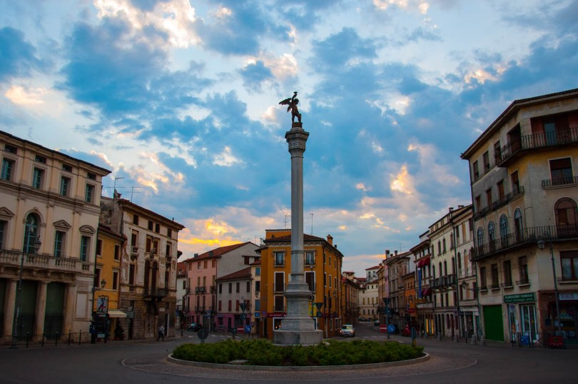An iconic view of Vicenza from Ponte dei Angeli - Vicenza, Veneto, Italy - www.rossiwrites.com