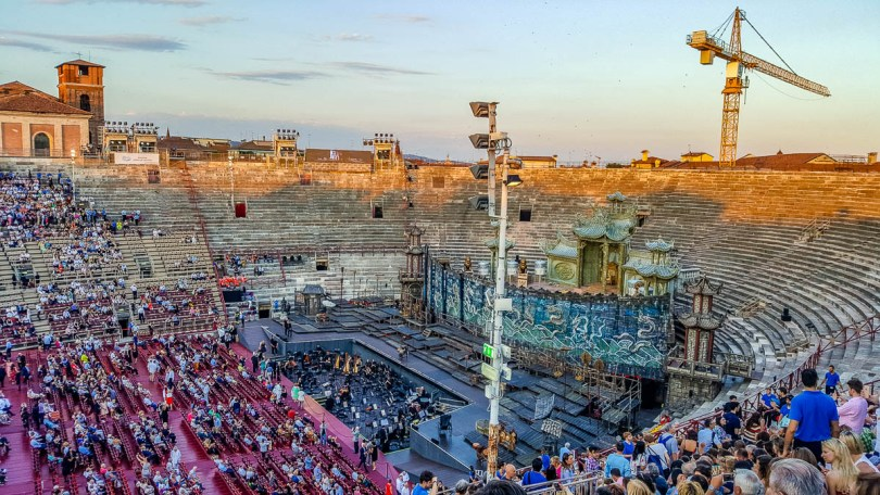 Before the start of the performance - Arena di Verona- Verona Opera Festival - Veneto, Italy - www.rossiwrites.com