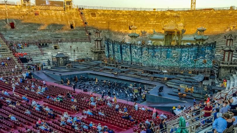 Before the start of the performance - Arena di Verona- Verona Opera Festival - Veneto, Italy - www.rossiwrites.com