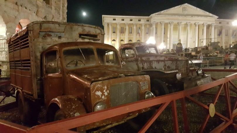 The stage set for Carmen outside Arena di Verona - Verona Opera Festival - Veneto, Italy - www.rossiwrites.com