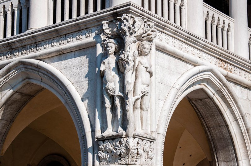 Adam & Eve - Doge's Palace - Venice, Italy - www.rossiwrites.com