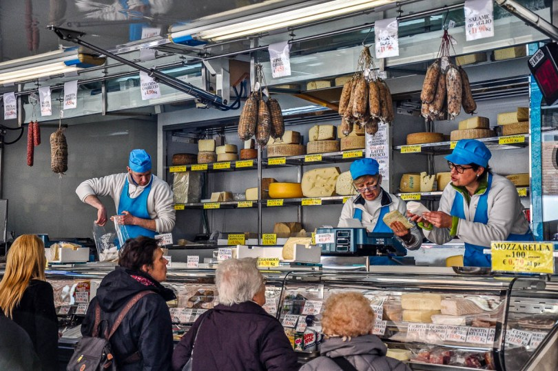 Market van selling cheese, salami and dairy products - Vicenza, Italy - rossiwrites.com
