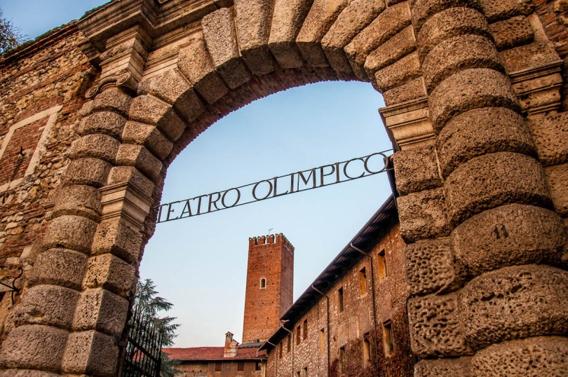 The entrance of Teatro Olimpico - Vicenza, Italy - rossiwrites.com