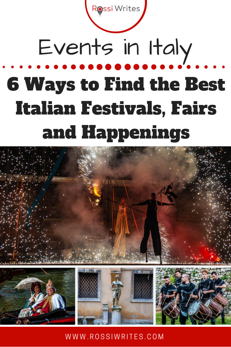 Find six ways to discover the best events in Italy. All the Italian festivals, fairs, guided tours, nature hikes, operas and concerts at your fingertips. #travel #europe #italy