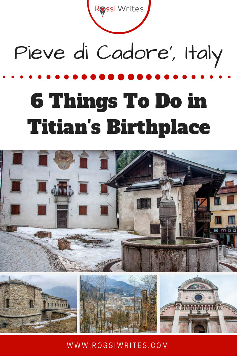 Pieve di Cadore' is a picturesque town in Northern Italy famous for being the birthplace of Titian and Italy's optical industry. Find 6 things to do there. #travel #italy