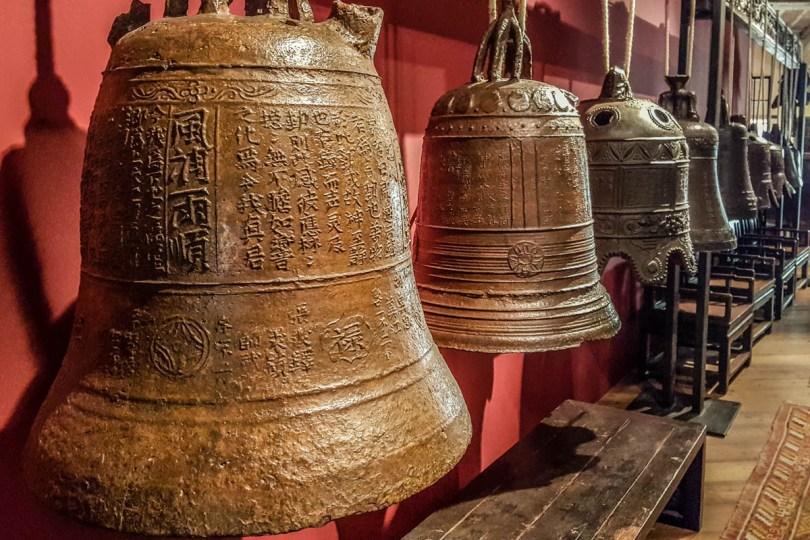Ancient bells in the Oriental Art Museum Obrietan - Montecchio Maggiore, Veneto, Italy - www.rossiwrites.com