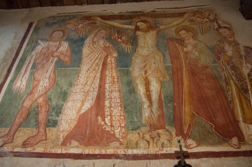 Fresco - Church of San Pietro in Vincoli - Campo di Brenzone, Lake Garda, Italy - www.rossiwrites.com