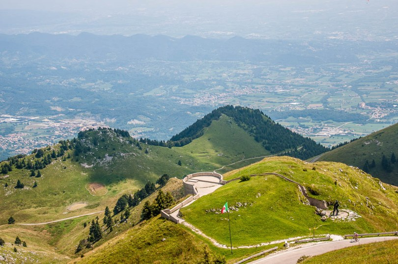 The view from Monte Grappa - Veneto, Italy - www.rossiwrites.com