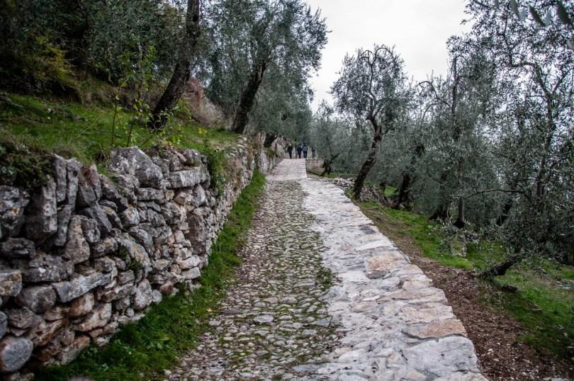 Stone-paved mule tracks - Campo di Brenzone, Lake Garda, Italy - www.rossiwrites.com