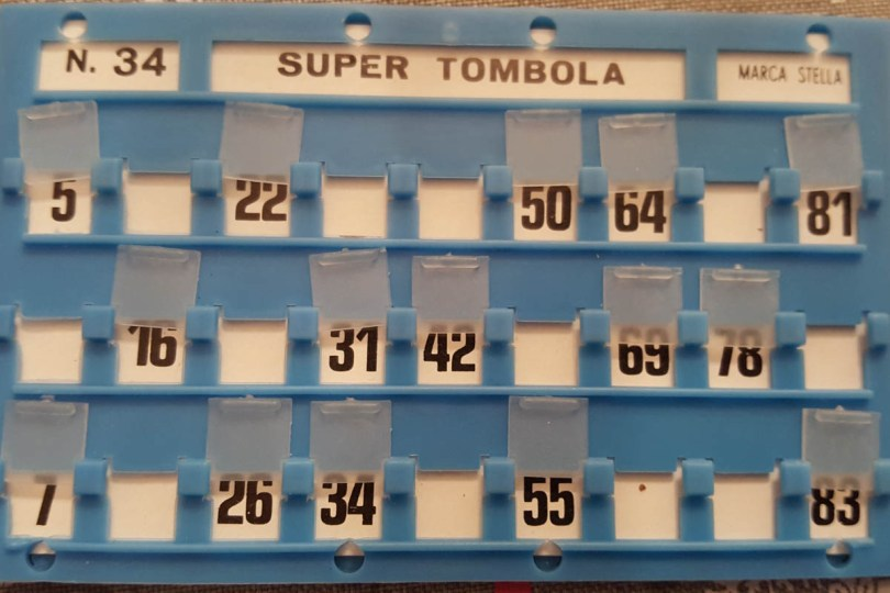 Tombola Board - Italian Christmas game - www.rossiwrites.com