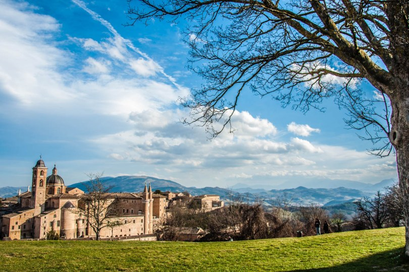 A view of Urbino with the Ducal Palace - Urbino, Marche, Italy - www.rossiwrites.com