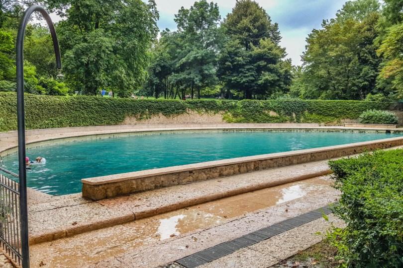 Medieval pool in Terme di Giunone - Caldiero, Veneto, Italy - rossiwrites.com