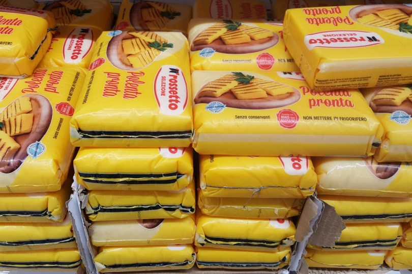 Slabs of polenta sold in an Italian supermarket - www.rossiwrites.com