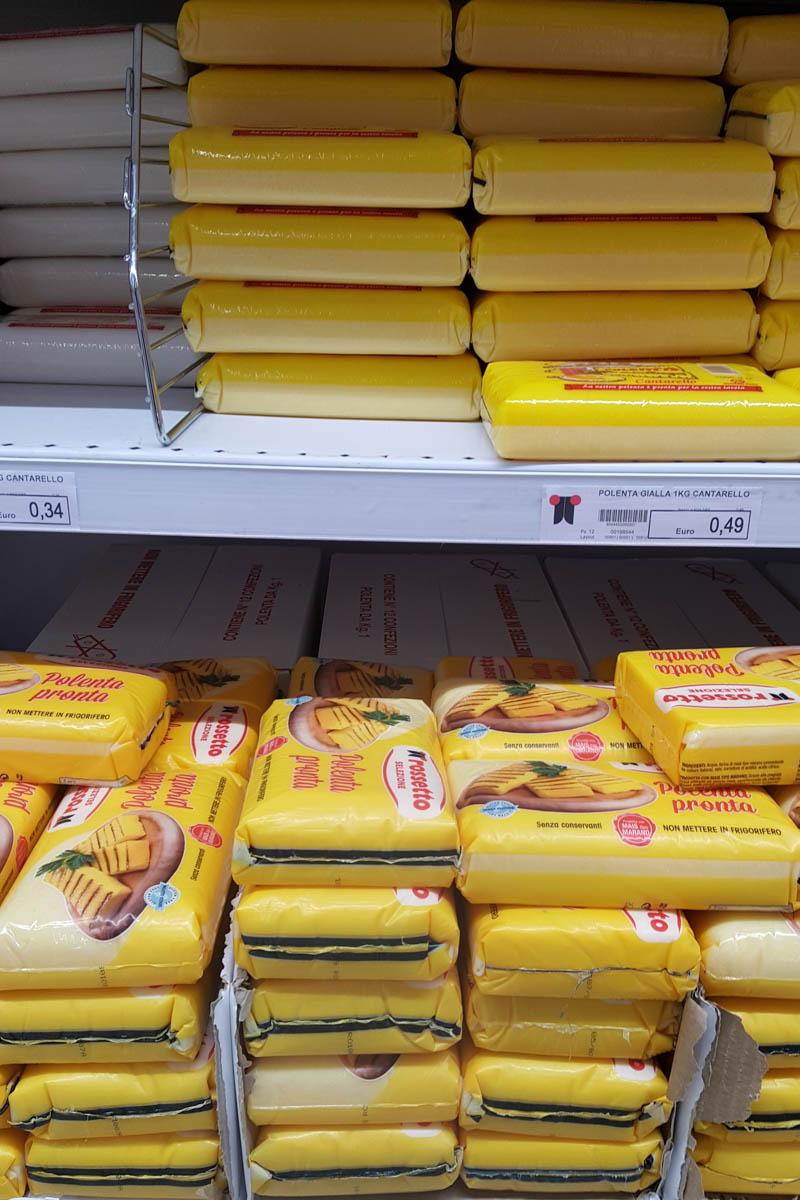 Slabs of polenta sold in an Italian supermarket - www ...