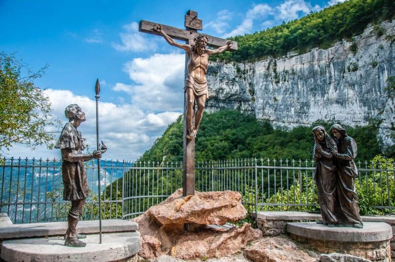 A Crucifixion - Via Crucis by Raffaele Bonente - Sanctuary of Madonna della Corona - Spiazzi, Veneto, Italy - www.rossiwrites.com