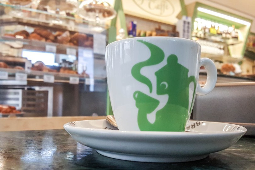 A cup of coffee in an Italian bar - Vicenza, Italy - www.rossiwrites.com