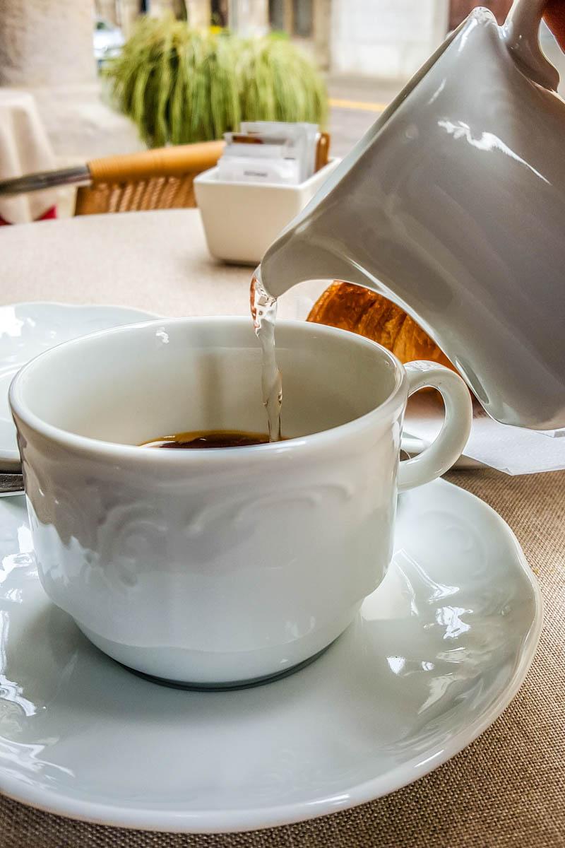 Caffe Americano with brioche - Vicenza, Italy - rossiwrites.com