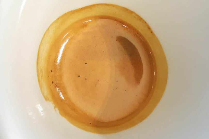 Close-up of espresso shot - Vicenza, Italy - www.rossiwrites.com
