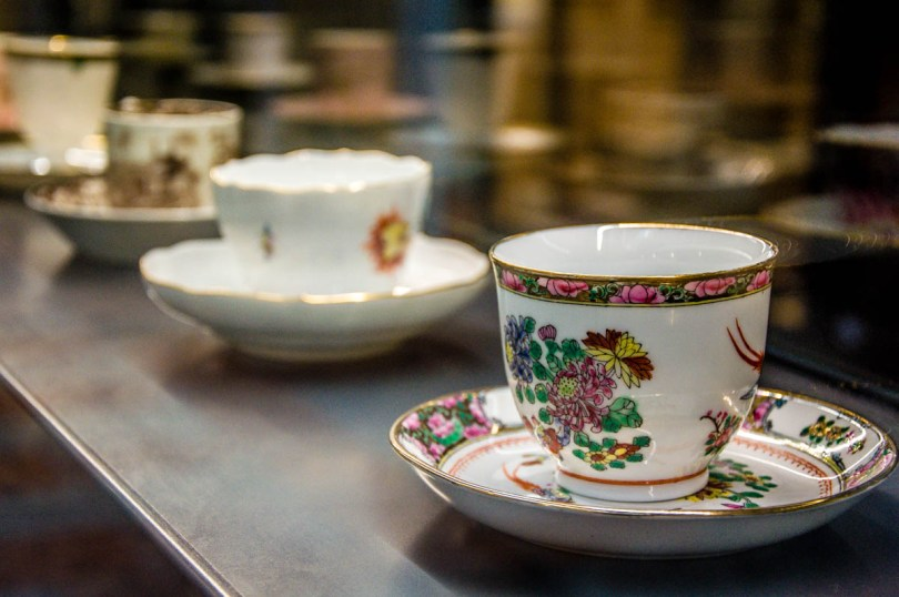 Elegant coffee cups - Bontadi Coffee Museum - Rovereto, Italy - www.rossiwrites.com